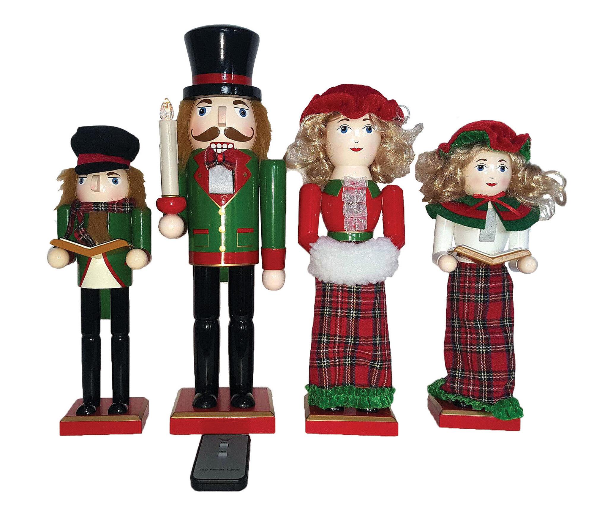 The Holiday Aisle 4 Piece LED Dickens Caroler Nutcracker Set