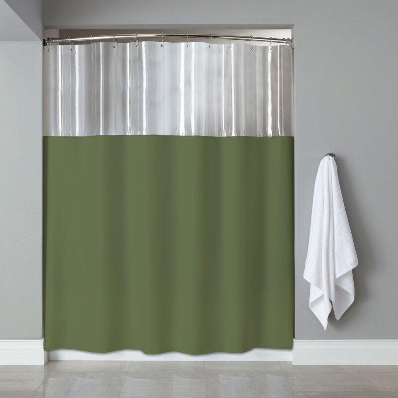See Through Bath Vinyl Shower Curtain