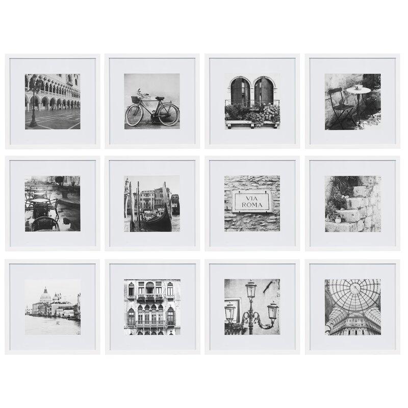 Joss & Main Essentials 12 Piece Matted Picture Frame Set & Reviews ...