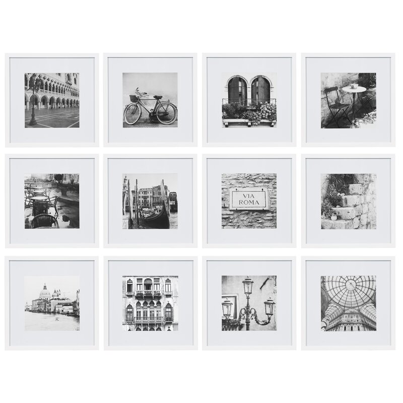 Noland 12 Piece Matted Picture Frame Set