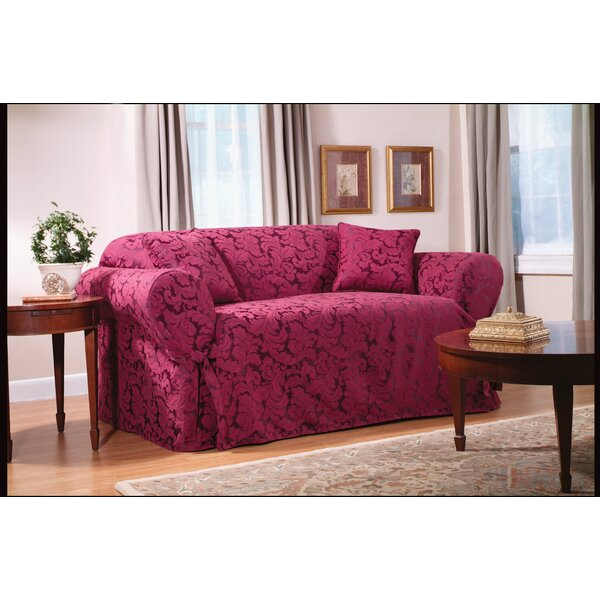 Sure Fit Scroll Classic Box Cushion Loveseat Slipcover