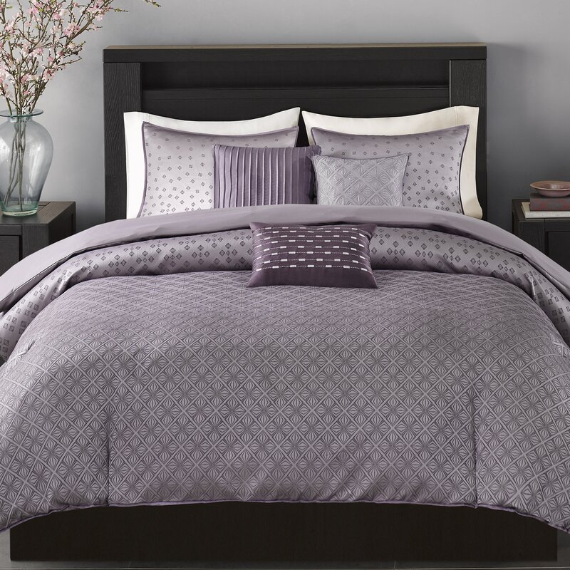 6 piece duvet cover set reviews allmodern. Black Bedroom Furniture Sets. Home Design Ideas