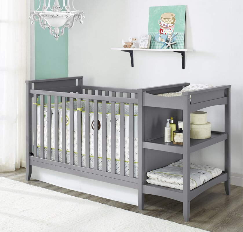 Nice Emma 2 In 1 Convertible Crib With Changing Table