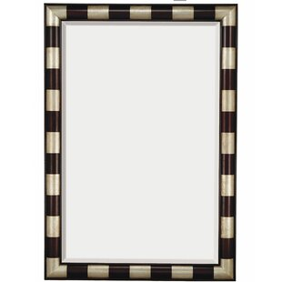 Large Modern Rectangular Wood Framed Beveled Gl Wall Mirror