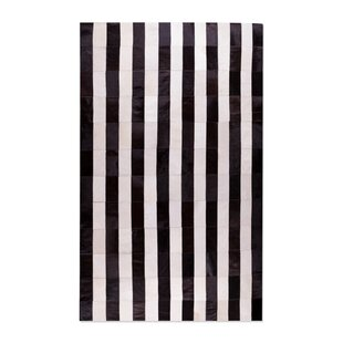 Guide to buy Manan Hand-Tufted Cowhide Black/White Area Rug By17 Stories