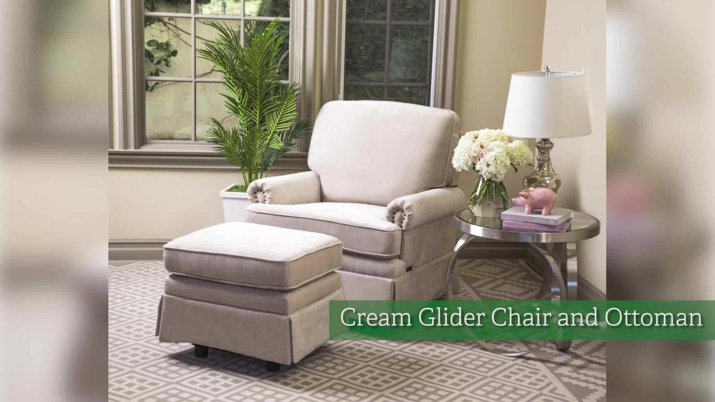 Darby Home Co Duston Swivel Glider And Ottoman Reviews Wayfair - Swivel glider chairs living room