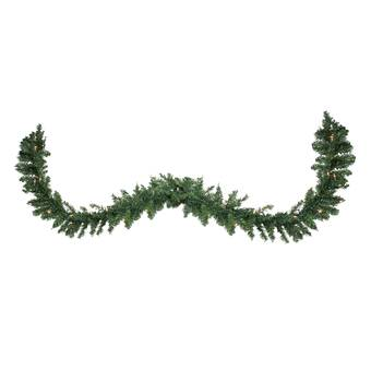 Vickerman 24-Inch Prelit Camdon Fir Wreath with 130 Tips and 50 clear Dura-Lit Indoor//Outdoor Lights Green A861025
