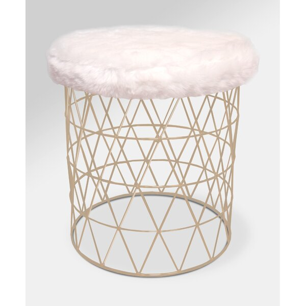 Unique Furry Vanity Stool | Wayfair ZL37