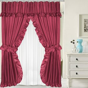 burgundy shower curtain sets. Double Swag Shower Curtain Set Burgundy Sets  Wayfair