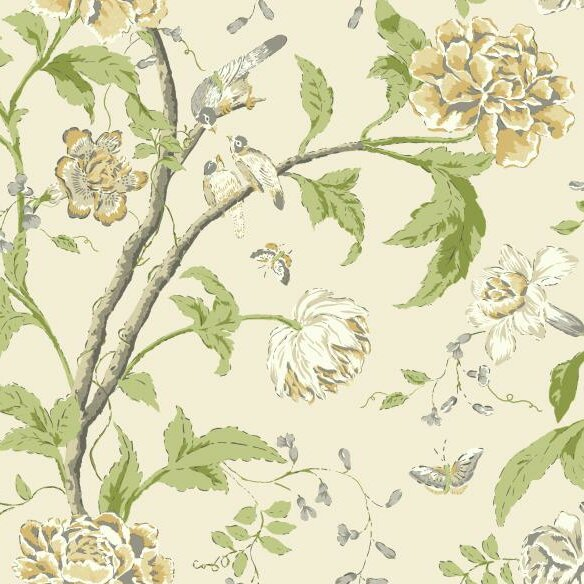 "Bedroom Decorating Ideas Wallpaper Victorian Wallpaper Bedroom Bedroom Window Blinds Ideas Bedroom Colour Green: York Wallcoverings Carey Lind Vibe 27' X 27"" Floral"