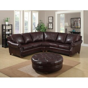 Adira Leather Sectional With Ottoman