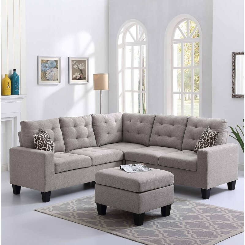 Andover Mills Pawnee Sectional With Ottoman Amp Reviews