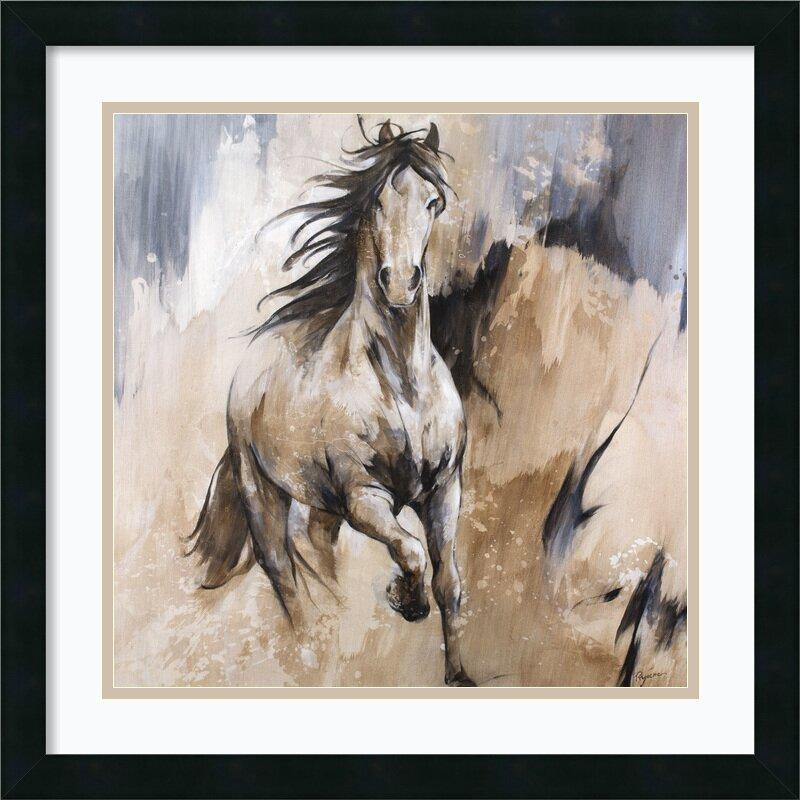 Loon Peak Frison Horse Framed Painting Print & Reviews ...