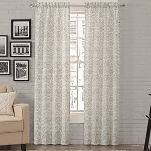 Livio Damask Semi Sheer Rod Pocket Curtain Panels (Set Of 2)