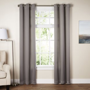 Wayfair Basics Solid Room Darkening Grommet Single Curtain Panel & Curtains u0026 Drapes Youu0027ll Love | Wayfair