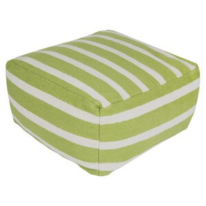 Ira Striped Pouf by Latitude R..