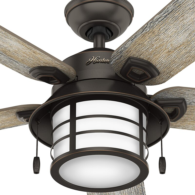 54 Key Biscayne Prestige 5 Blade Outdoor Ceiling Fan With Light
