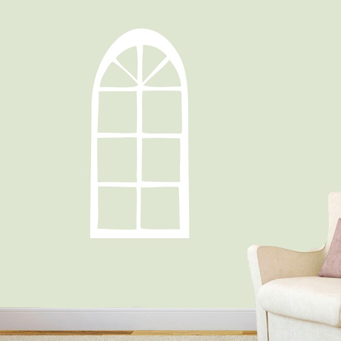 Holly Arched Window Wall Decal