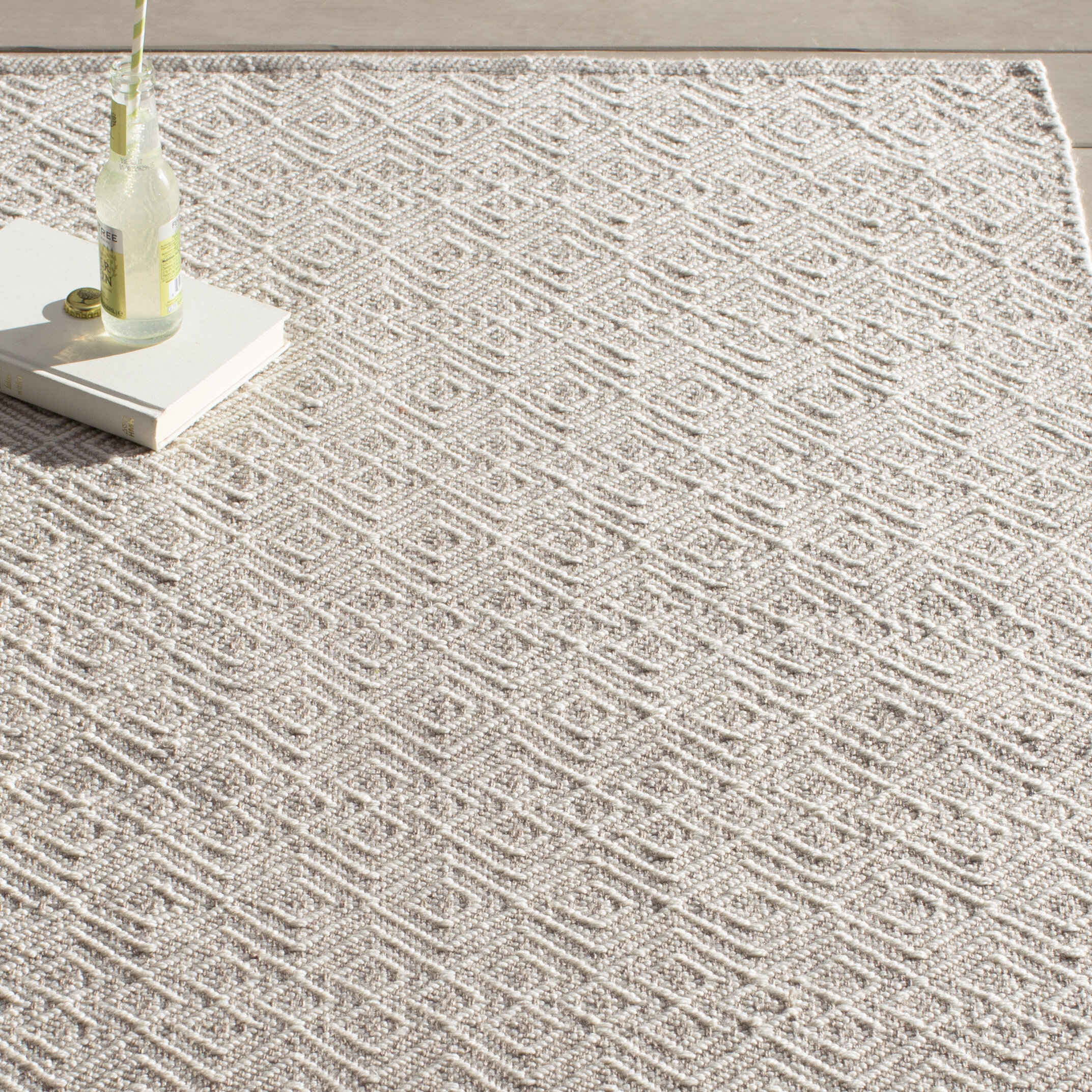 Bunny Williams Annabelle Hand Woven Grey Ivory Indoor Outdoor Area Rug Reviews Wayfair