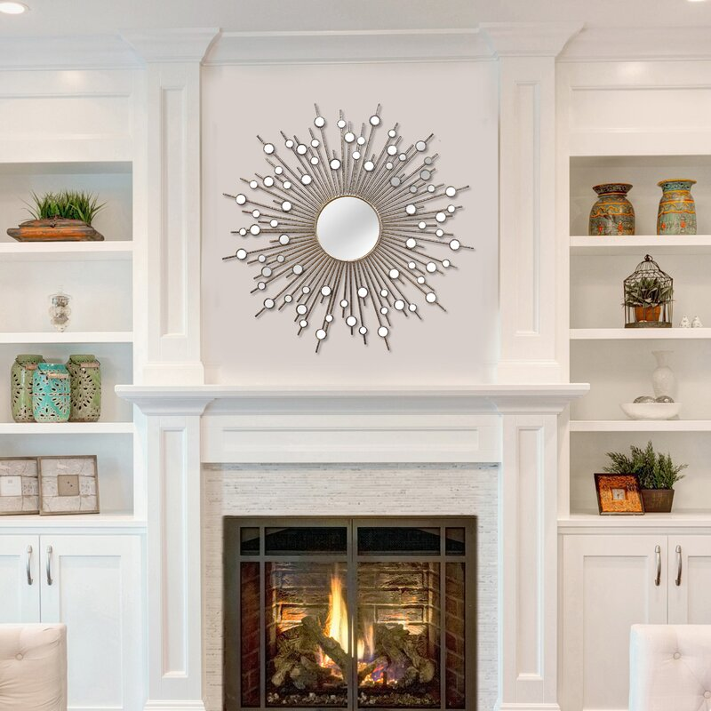 large over fireplace mirrors wayfair rh wayfair com decorative mirrors for above fireplace cool mirrors for above fireplace