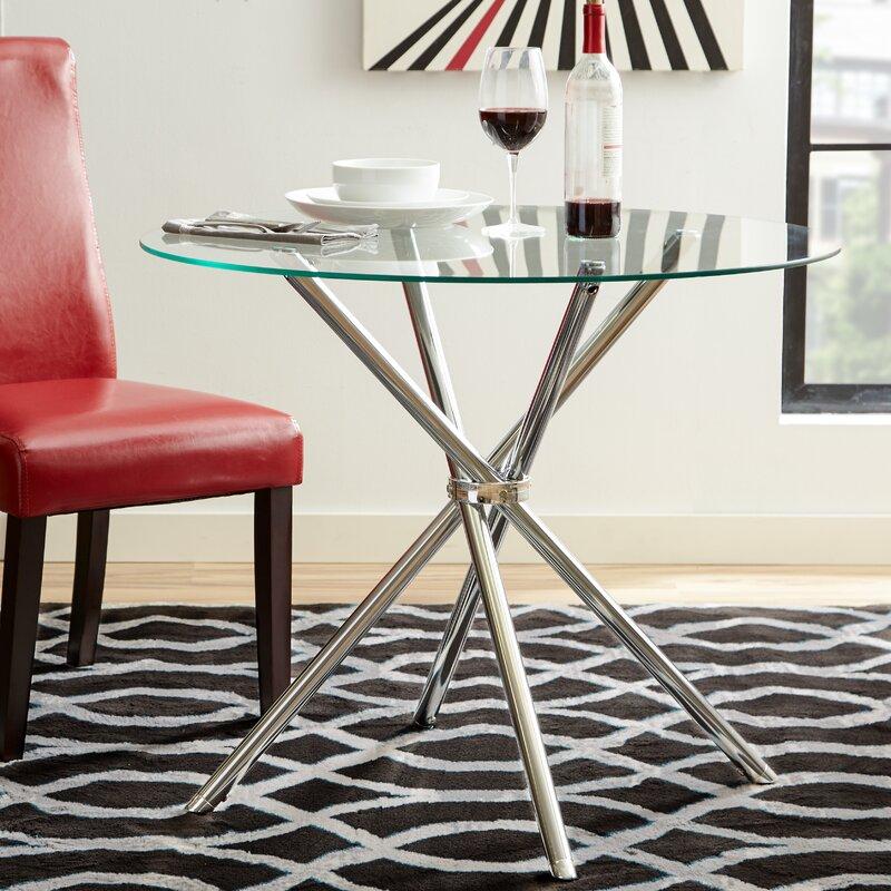 default_name - Zipcode Design Vince Glass Round Dining Table & Reviews Wayfair