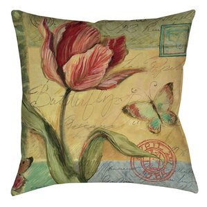Helene Tulip Indoor/Outdoor Throw Pillow