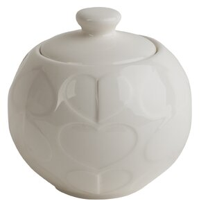Confetti Embossed Sugar Bowl