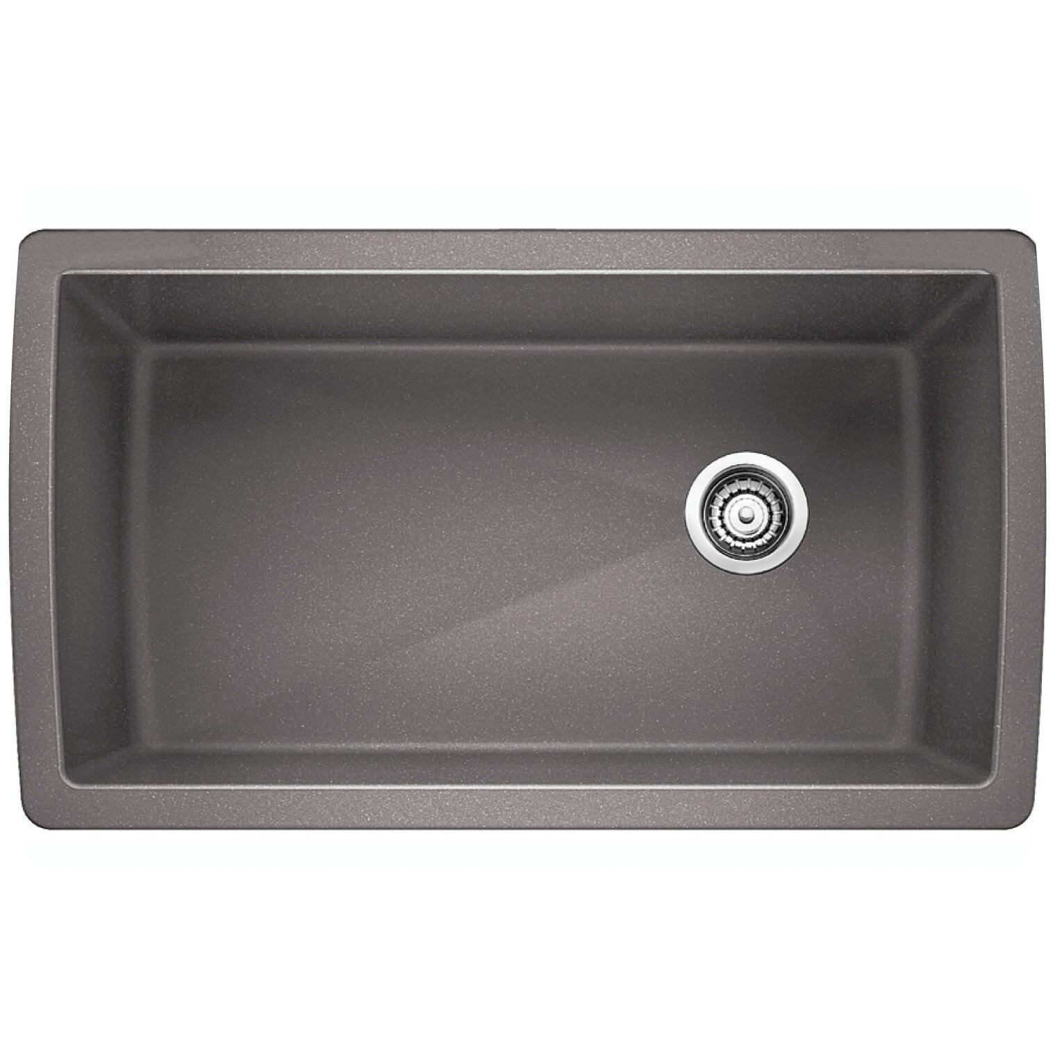 gray kitchen sink diamond 33 5 x 18 5 undermount kitchen sink