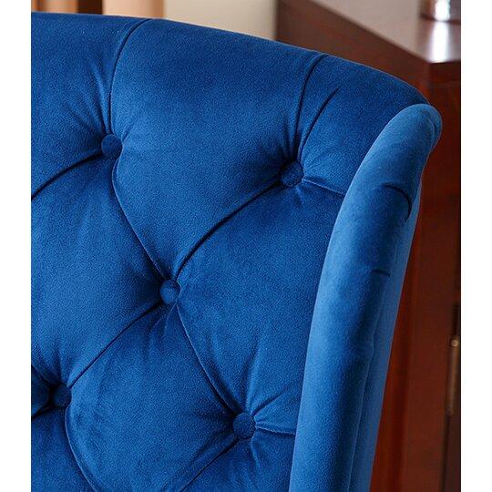 House of Hampton Ceallach Parsons Chair in Velvet Navy
