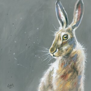 'Herbert' by Louise Brown Framed Wall art on Canvas