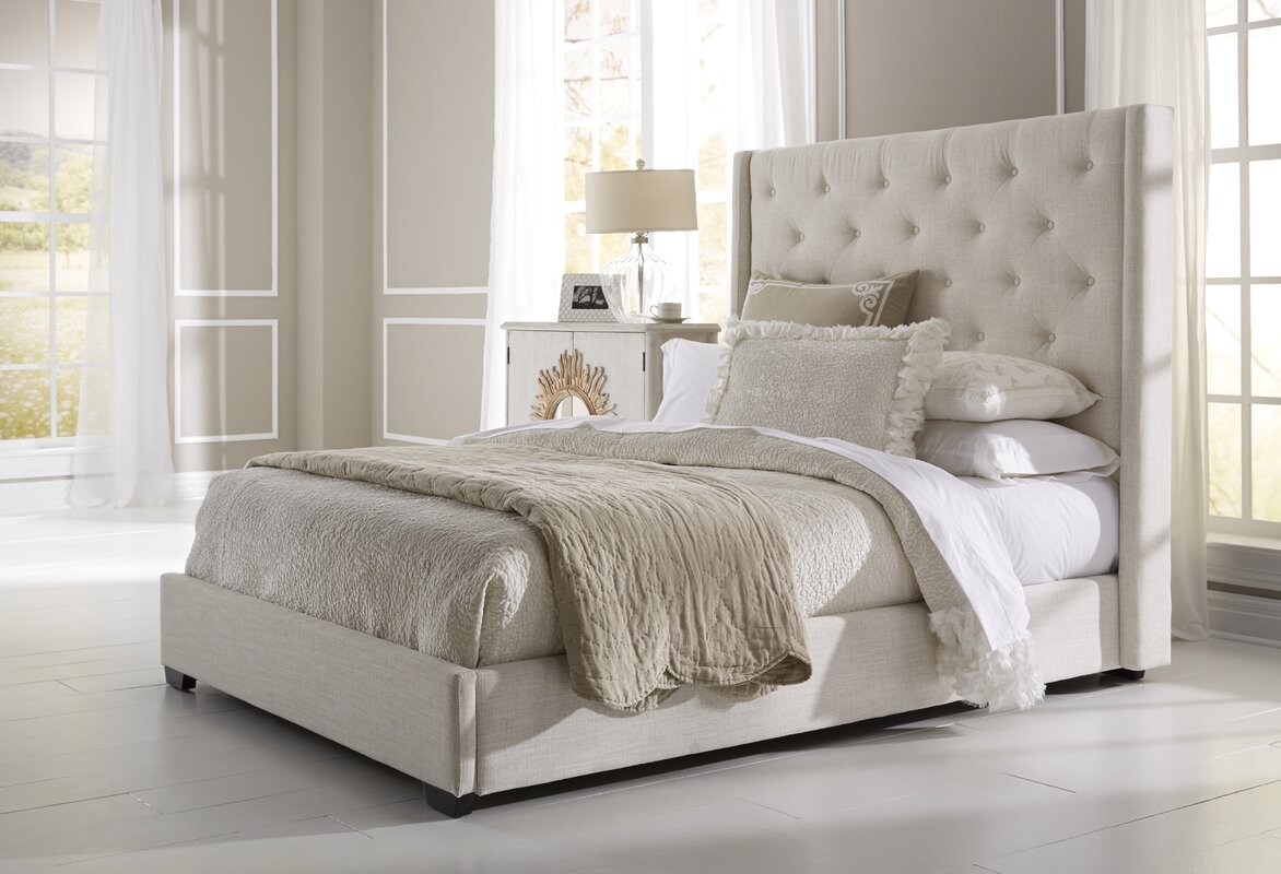 lark manor fares upholstered bed  reviews  wayfair - defaultname