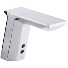 Geometric Single Hole Touchless Dc Powered Commercial Bathroom Sink Faucet With Insight Technology And