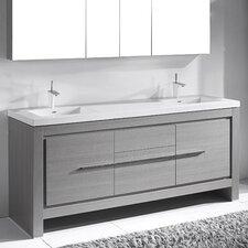 "Vicenza 72"" Double Bathroom Vanity Set"