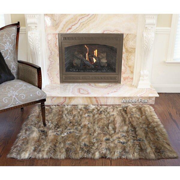 Wild Mannered Luxury Long Fur Hand Woven Area Rug U0026 Reviews   Wayfair