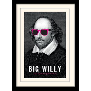 Big Willy - William Shakespeare' Framed Graphic Art Print