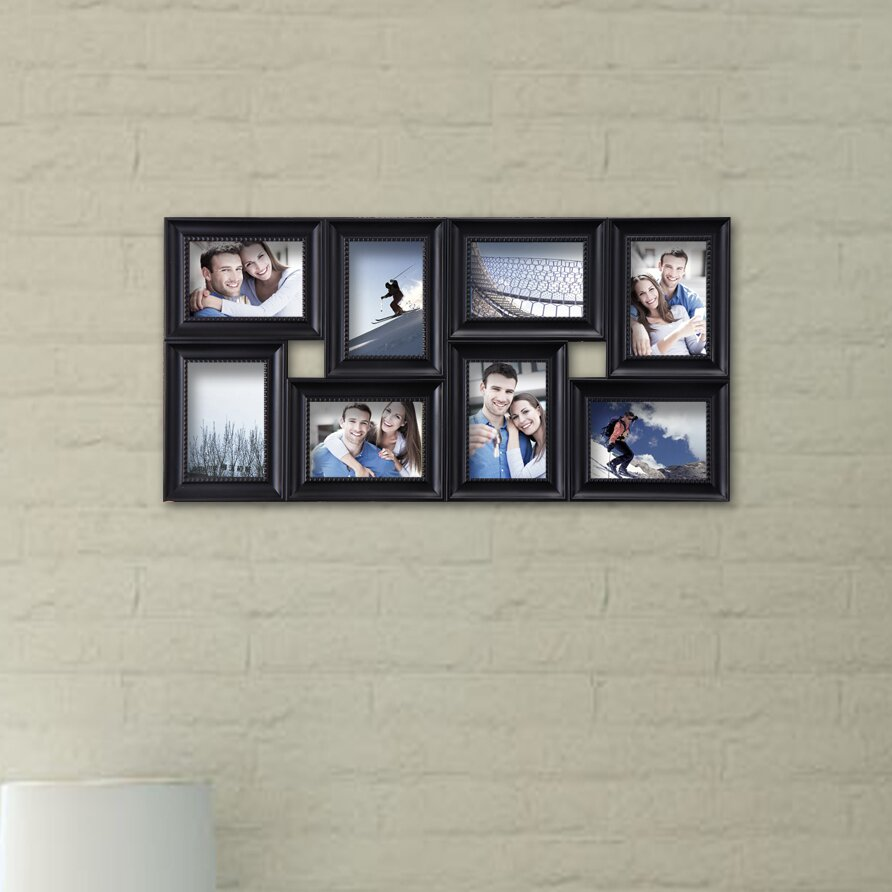 adecotrading 8 opening decorative wall hanging collage detailed picture frame wayfair. Black Bedroom Furniture Sets. Home Design Ideas