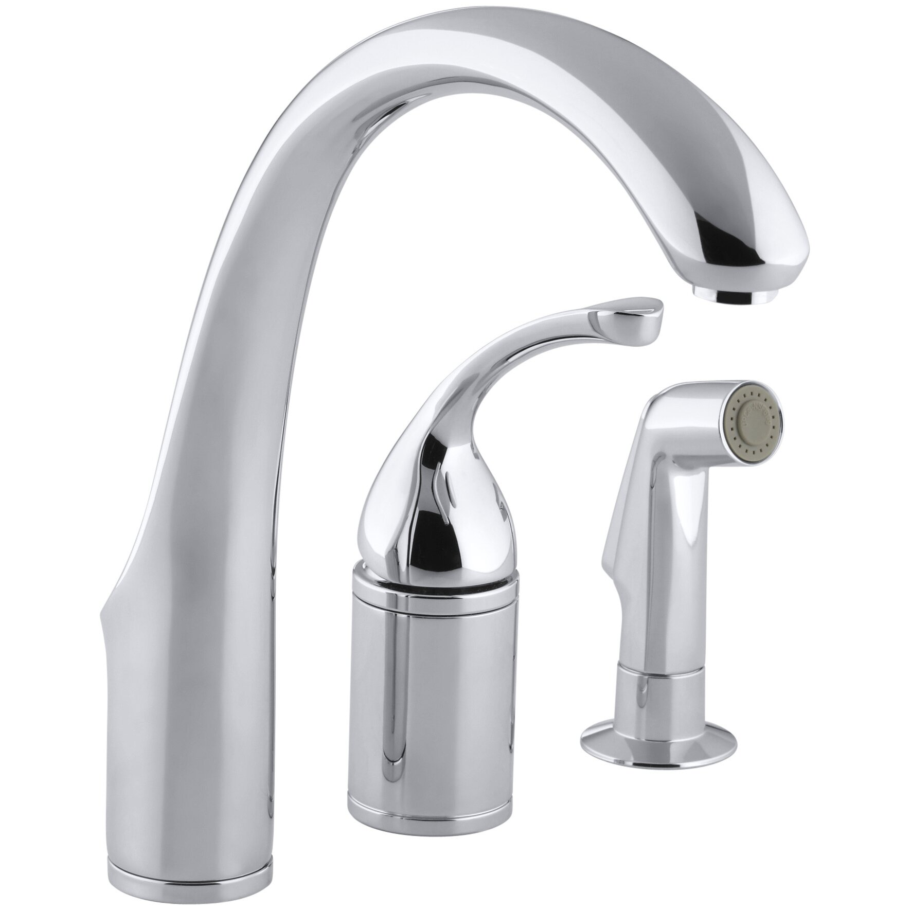 Kohler Fort 233 3 Hole Remote Valve Kitchen Sink Faucet With