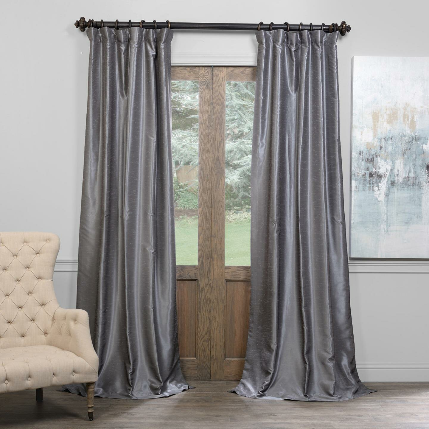 House Of Hampton Shepshed Solid Blackout Pinch Pleat Single Curtain Panel Reviews Wayfair