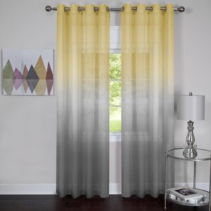 Bodhi Rainbow Solid Sheer Curtain Panels