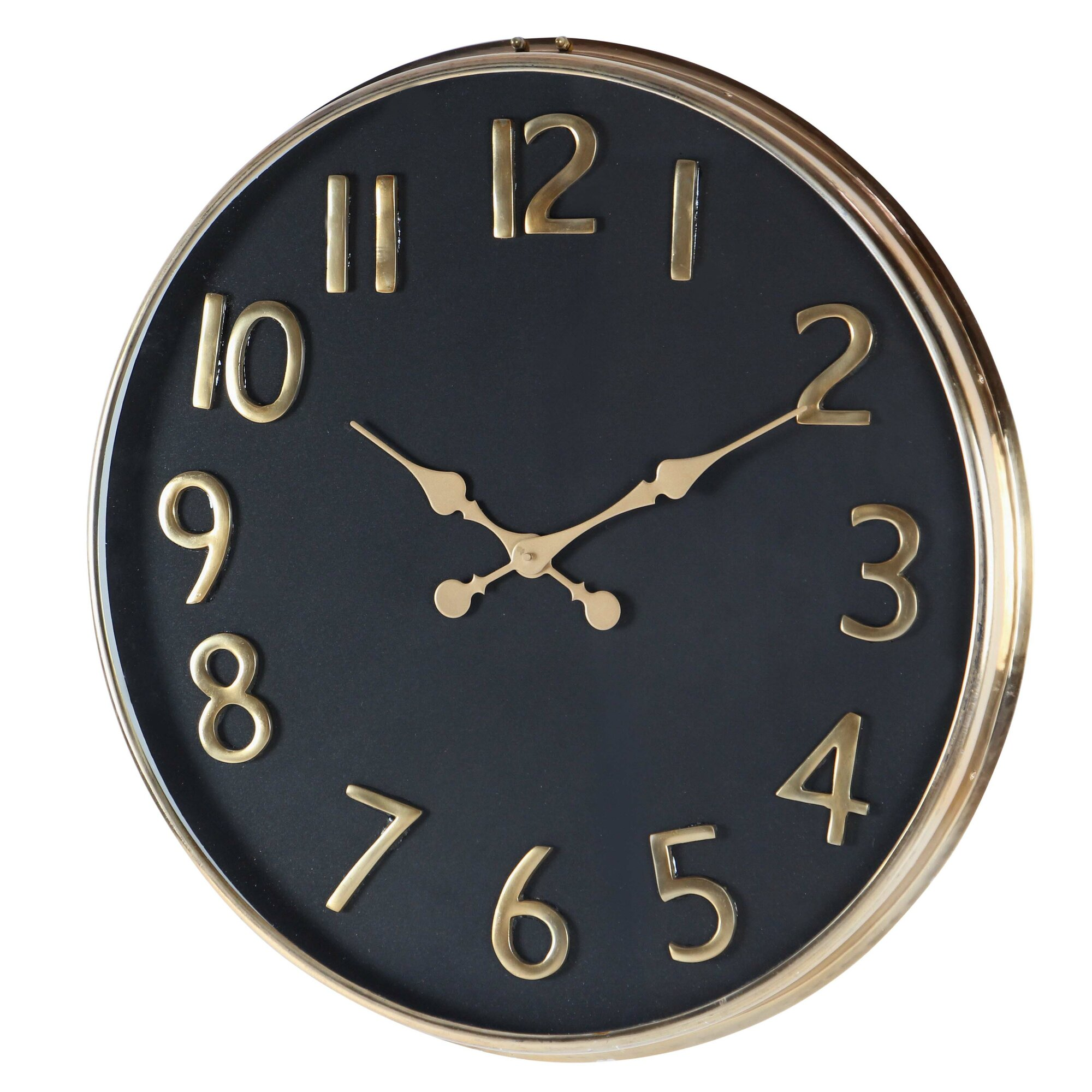 cole grey oversized stainless steel 25 wall clock reviews. Black Bedroom Furniture Sets. Home Design Ideas