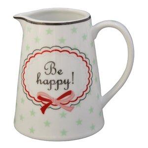 Be Happy Milk Jug