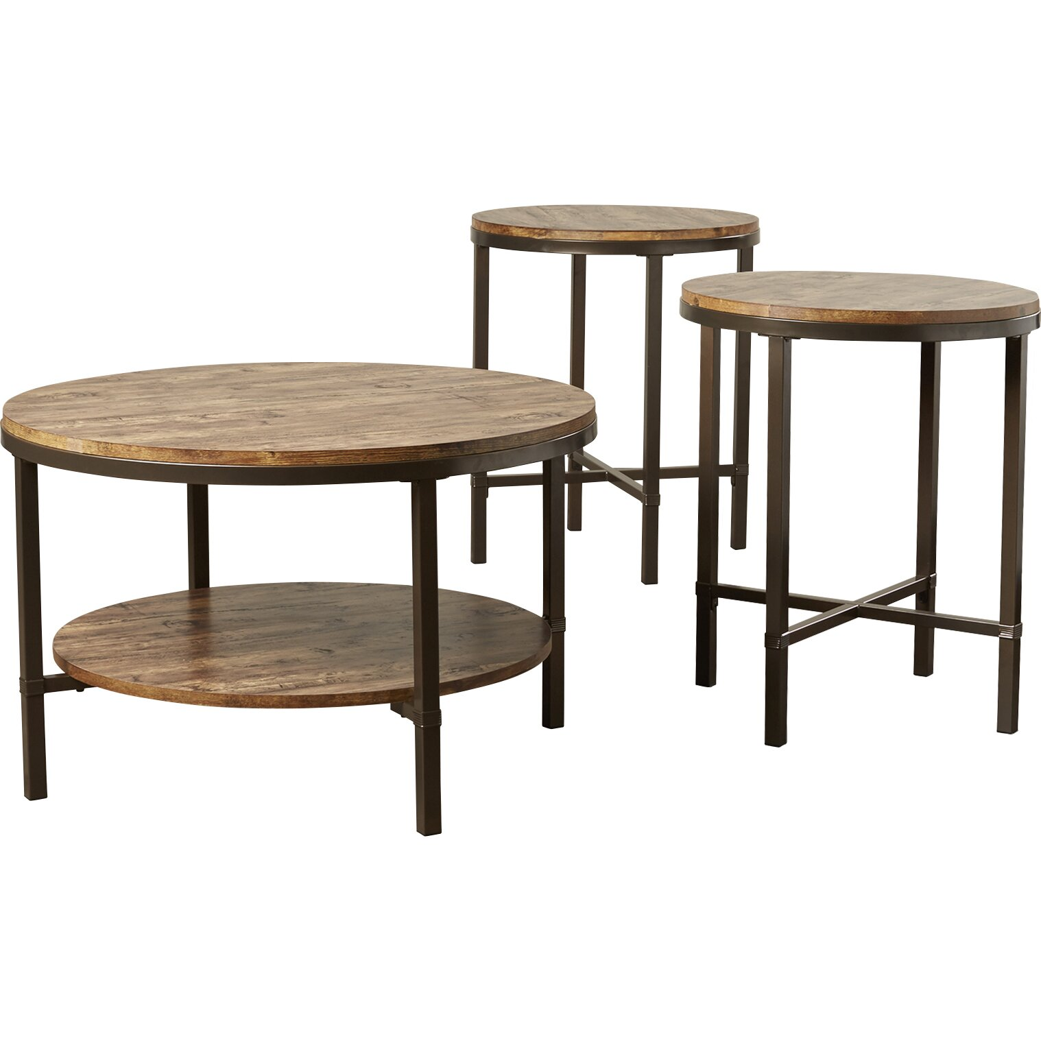Mercury Row Absher 3 Pieces Coffee Table Set Amp Reviews