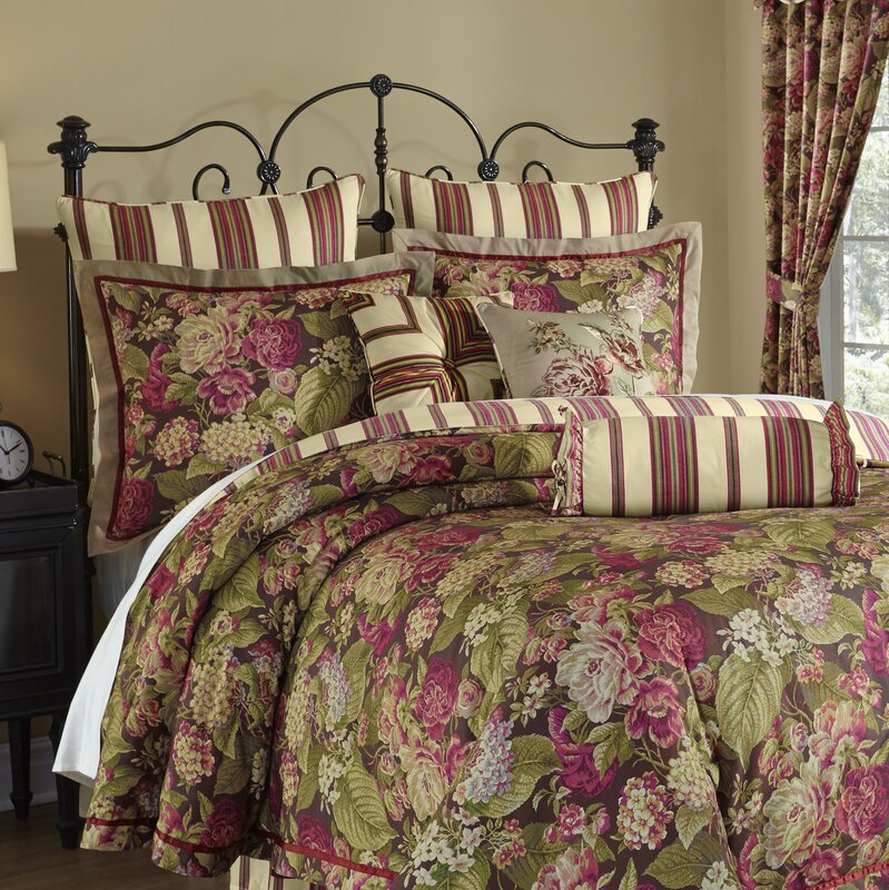 Waverly Floral Flourish Cordial 4 Piece Reversible Bedding