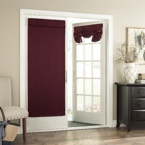 Cantor Solid Semi Sheer Tab Top Single Curtain Panel