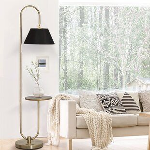 Floor lamp with tray wayfair lafever 73 arched floor lamp aloadofball Images