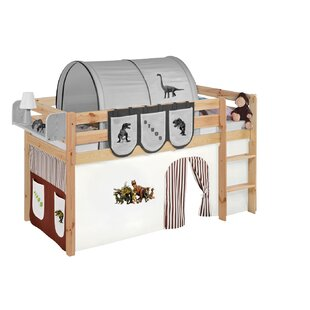 Curt European Single Mid Sleeper Bed with Bottom Bunk Curtain by Zoomie Kids