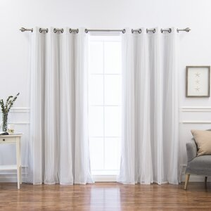 Sonja Mix and Match Solid Thermal Grommet 4 Piece Curtain Panels