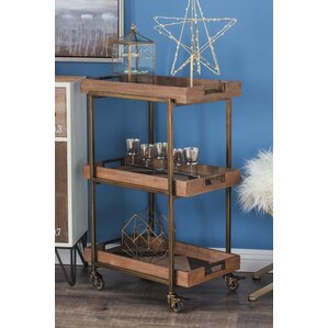 Metal/Wood Bar Cart by Cole & Grey