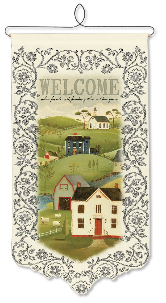 Heritage Lace Country Home Welcome Wall Decor & Reviews   Wayfair