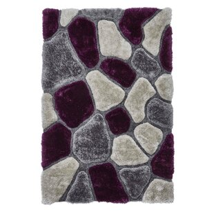 Noble House Hand Tufted Grey/Purple Rug